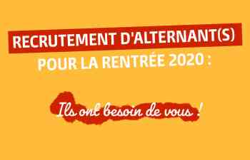 Recrutement alternance Pole formation isere